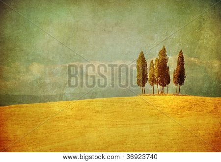 Vintage paisagem Toscana