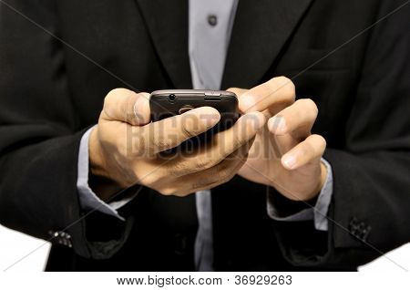 Man Using Cellphone