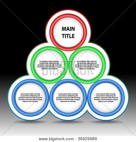 Color Circular Pyramid
