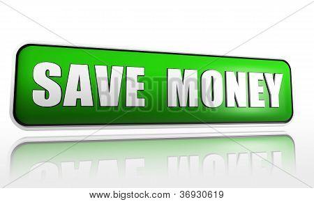 Poupar dinheiro na faixa verde