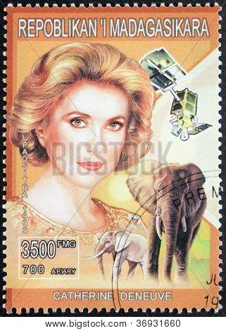 Catherine Deneuve Stamp