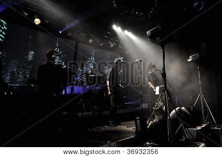 Laibach rock band performs live