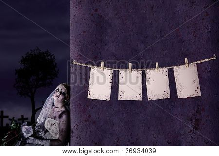 Halloween Empty Note Background