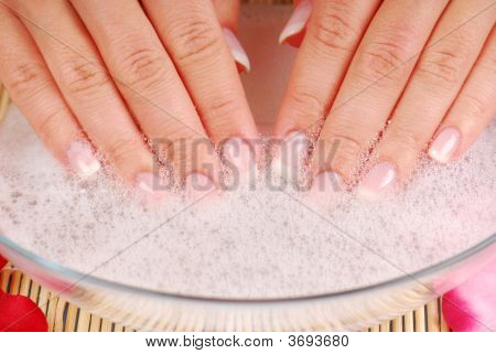 Elegance Woman Hands On Spa Treatment Procedure