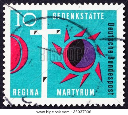 Postage stamp Germany 1963 Cross of Golgotha