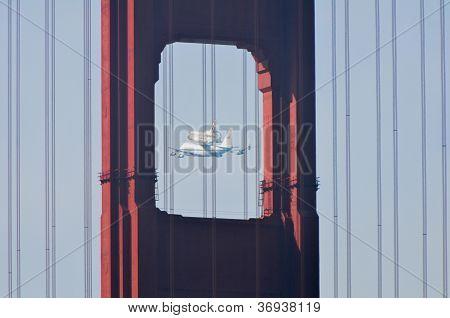 Space Shuttle Endeavour And Golden Gate Bridge