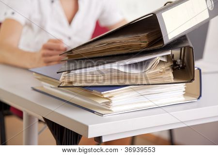 businesswoman with file folder