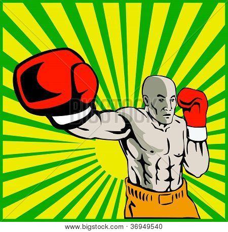 Boxer Boxing Jabbing Front