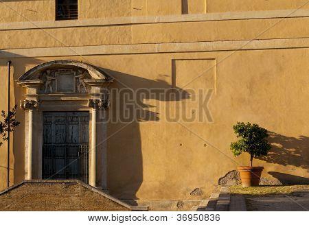shadows on roman wall