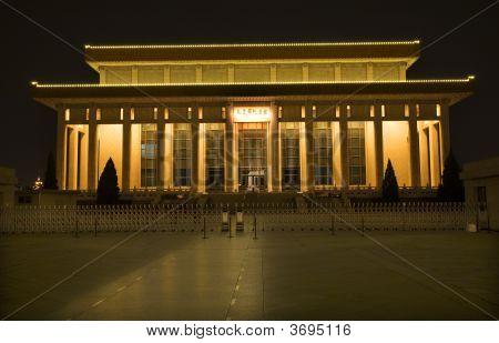 Tomb Of Mao Tse Tung Tiananmen Square Beijing China Night