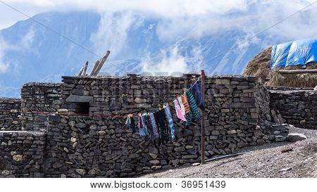 Laundry and haystack
