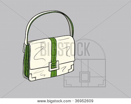 White ladies handbag
