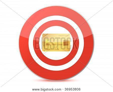Target a credit card illustration design over white