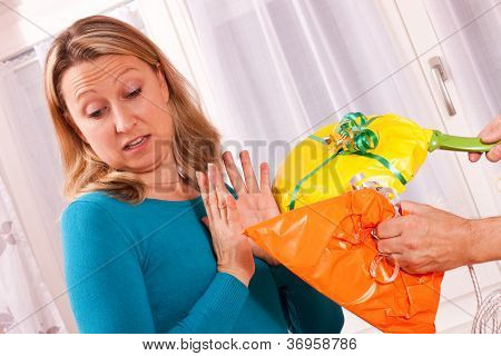 Young Blonde Woman Gets Uninspired Presents