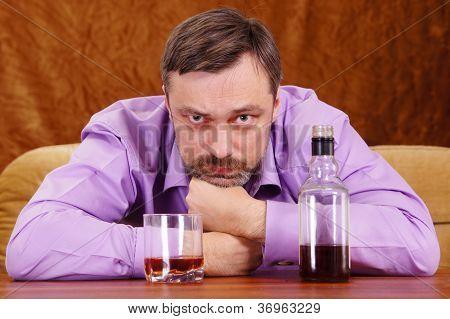 man getting drunk