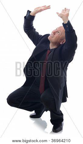 suit cowering
