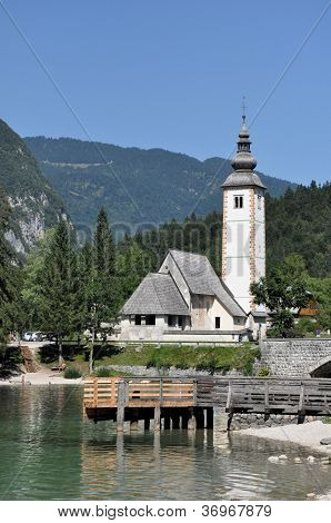 Church Near Lake Bohinj, Julian Alps, Slovenia