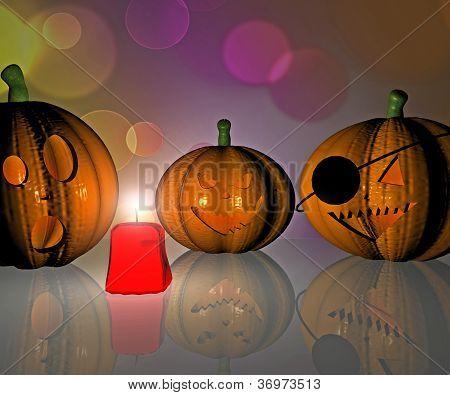 Halloween Pumpkin - 3D