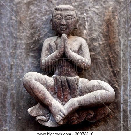 Ancient wooden carved