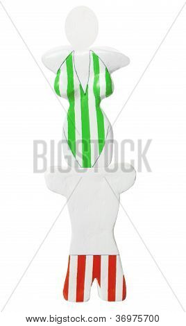 Torso Display With Swimming Costumes