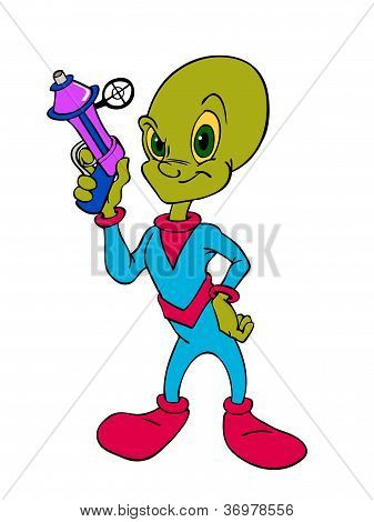 Alien with Ray Gun