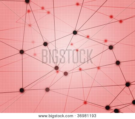 Red Network Background