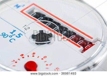 Macro Shot Of A Water Meter