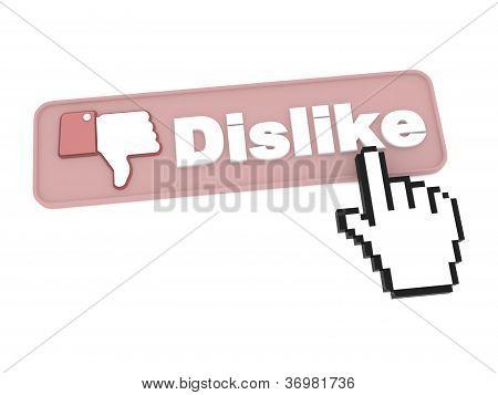 Dislike Button - Social Media Concept.