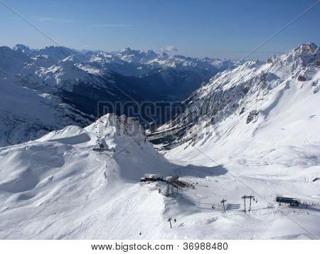 ski slopes in Alps