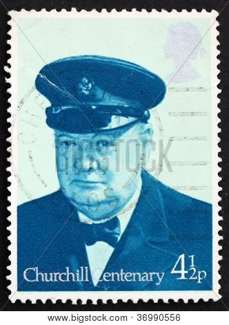 Postage Stamp Great Britain 1974 Sir Winston Spencer Churchill