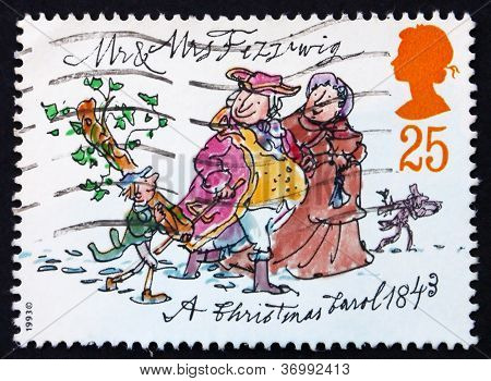 Postage Stamp Gb 1993 Mr. And Mrs. Fezziwig