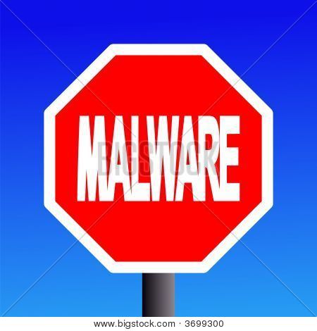 Stop Malware Sign
