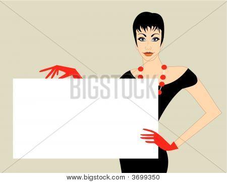 Elegant Women Vector Banner