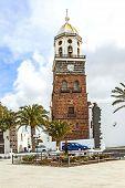 stock photo of senora  - Teguise Lanzarote Canary Island Church Iglesia de Nuestra Senora de Guadalupe - JPG