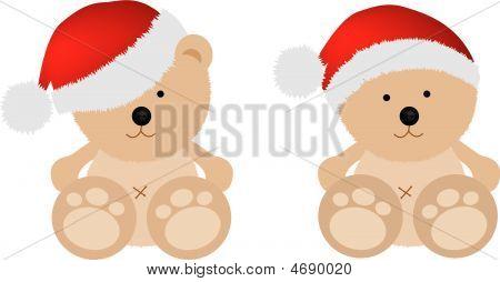 Christmas Teddy Bears X2