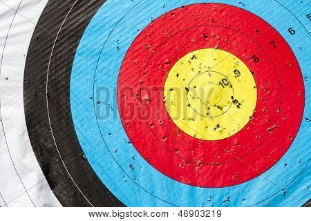 Archery Target. Heading Perfection.