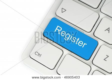 Blue register button