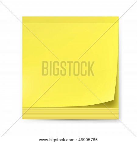 Pegatinas amarillas.