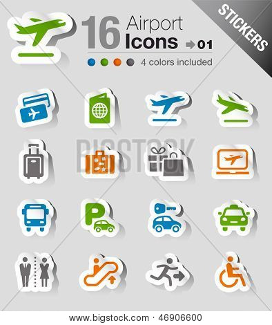 Stickers - Airport and Travel icons