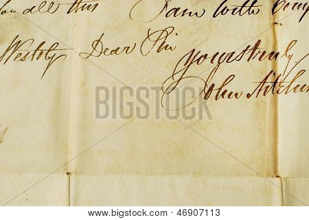 Close up of Old Letter - Background Textures