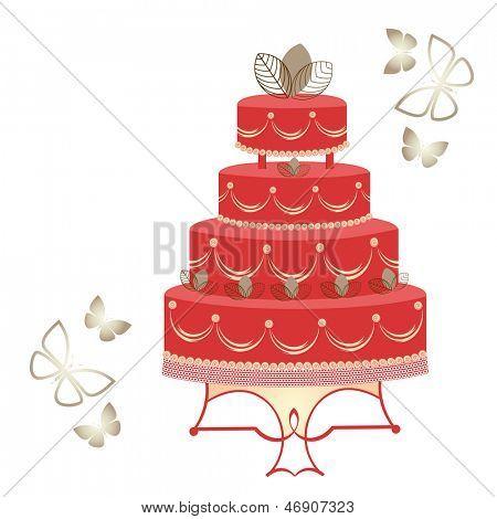Elegant tiered cake