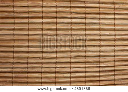 Background  Texture Of Bamboo Placemat Close Up