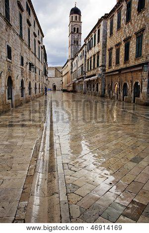 Dubrovnik In The Dawn Rain