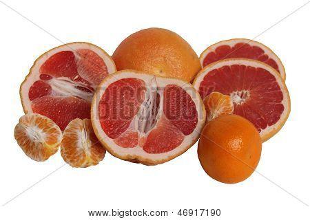 Grapefruits And Mandarines.