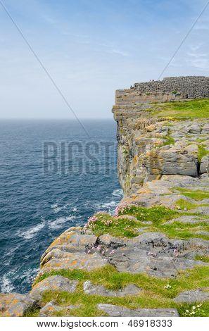 Dun Aengus, an ancient fort on Inishmore, Aran Islands, Ireland
