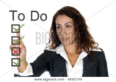 Female Corporate Ceo - To Do List