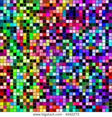Bright Colored Cubes Pattern