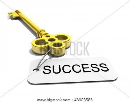 """a key with word """"success"""" , business concept"""