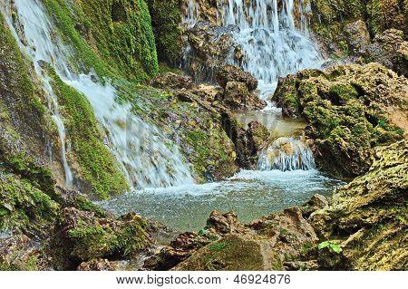 A part of Krushuna waterfalls cascade