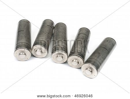 Set Of Unlabelled Aa Batteries